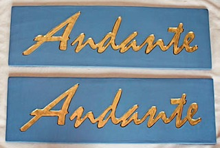 Andante finished signs