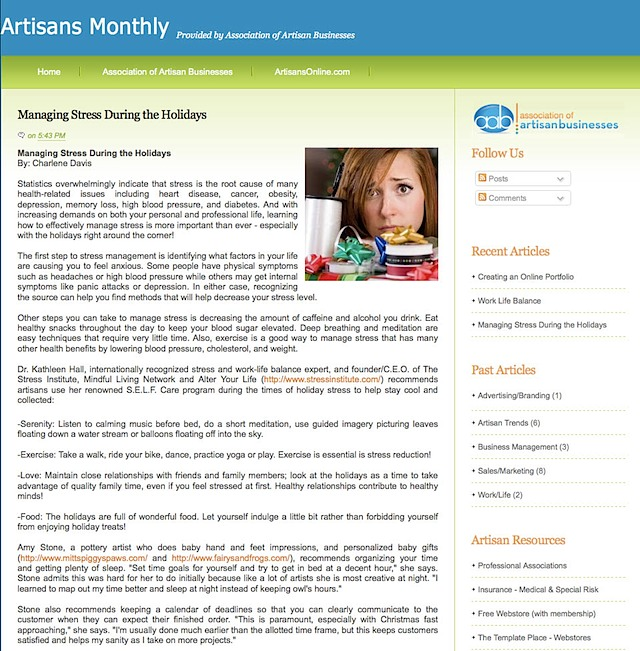 Artisans Monthly