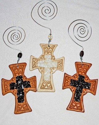 Brown Pottery Crosses