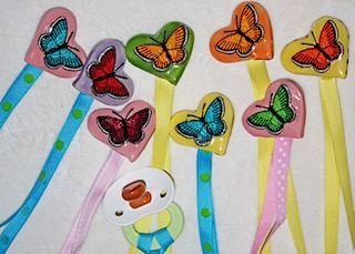 Butterfly Baby Pacifier Clip
