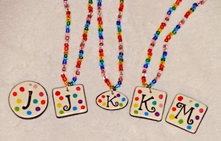 Colorful Initial Necklaces 2