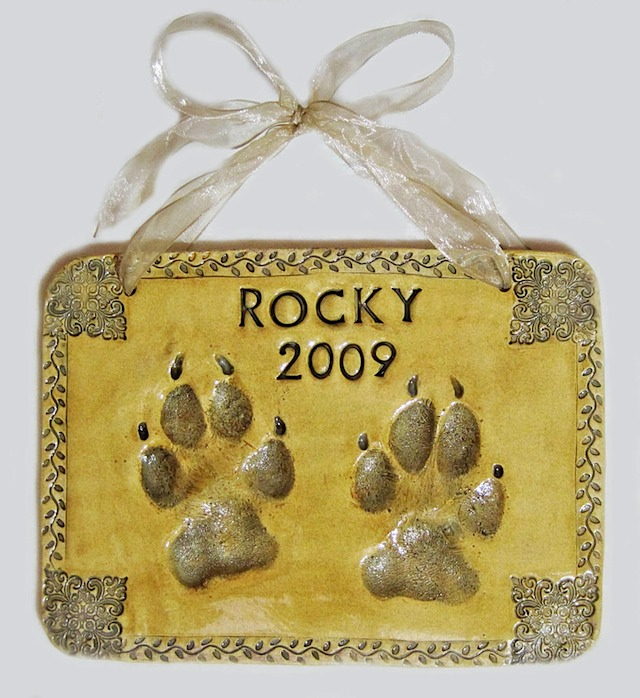 Dog Paw Impression Plaque