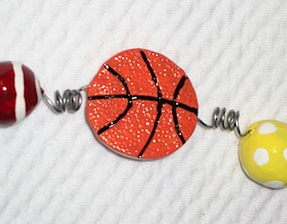 Flat Basketball Bead
