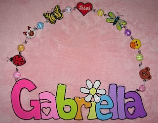 Girl's Name Wall Decor