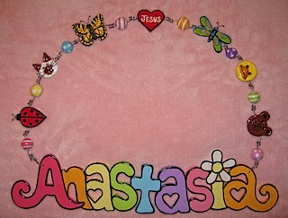 Girl's Wall Decor Name Plaque