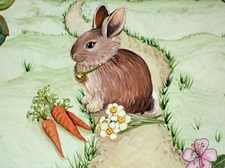 High Chair Rabbit and carrots
