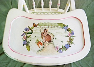 High Chair Tray with Rabbit