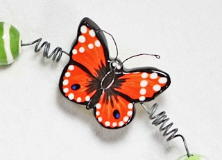 Monarch Butterfly Bead