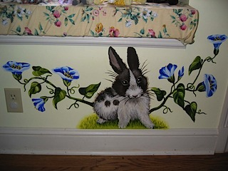 Scarlett's Mural Detail Rabbit #4