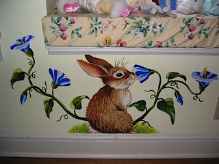 Scarlett's Mural Detail Rabbit #2