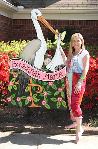stork personalized banner