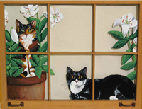 Two-Cats-Window-Painting
